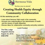 Creating Health Equity Through Community Collaboration – Workshop August 22nd