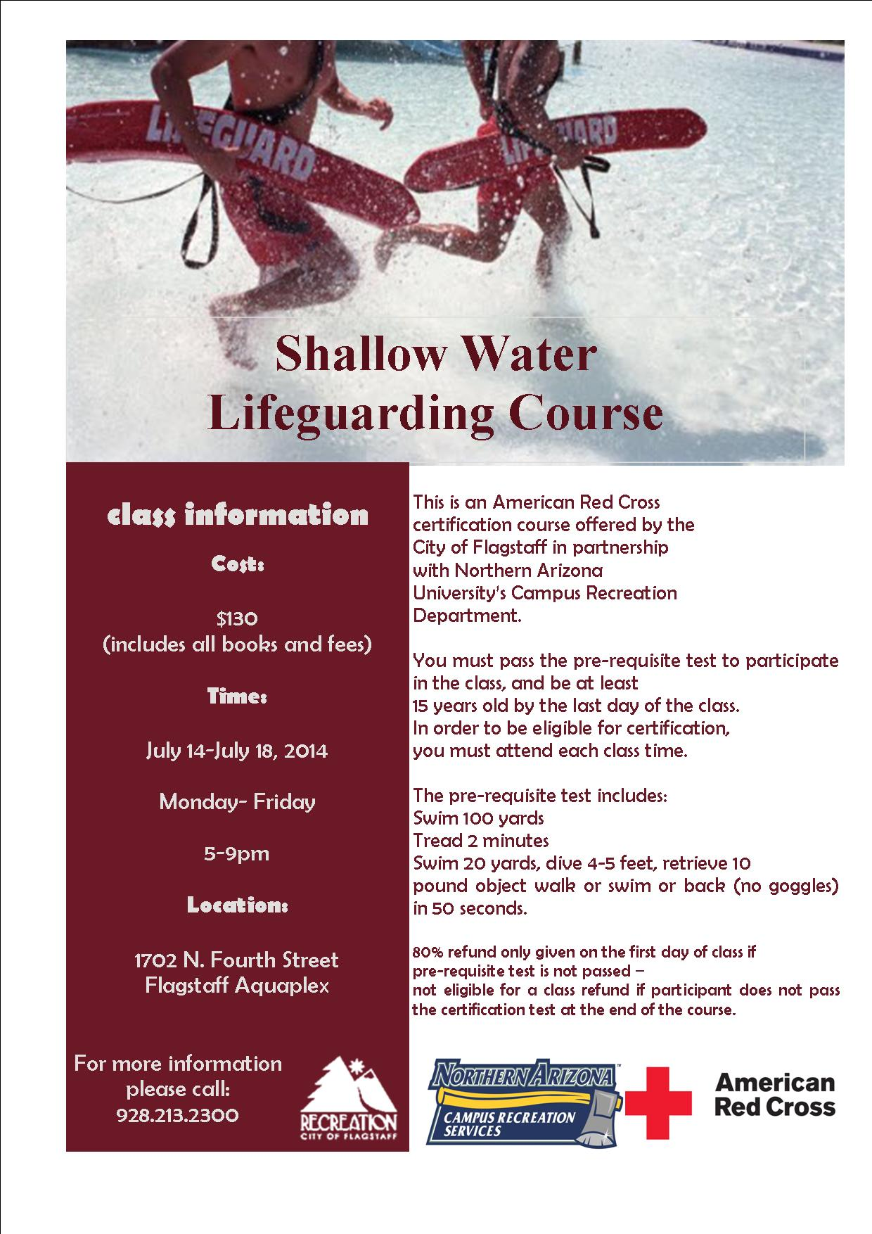 Shallow Water Lifeguarding Course American Red Cross Certification