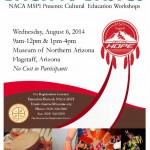 Back to Basics Cultural Education Workshops – No Cost – August 6