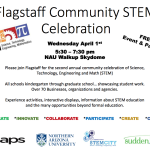 Flagstaff Community STEM Celebration to be held April 1 at NAU Walkup Skydome