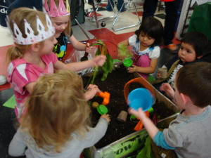 Children learned how to plant flowers at the 5th Annual Flagstaff Early Childhood Fair.