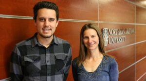 NAU grad student Jeff Bousson and Dara Marks Marino. Photo courtesy Northern Arizona University