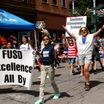 Education on the march during Flagstaff 4th of July Parade