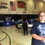 Backpacks, information distributed during Williams Back to School Fair on July 21, 22