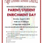 Page Unified School District announces 'Parent / Student Enrichment Day' on Aug. 3 in Page