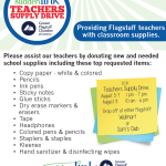 Flagstaff Teachers Supply Drive to be held Aug. 5 through 8