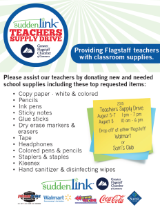 Flagstaff Teachers Supply to be held Aug. 5 through 8