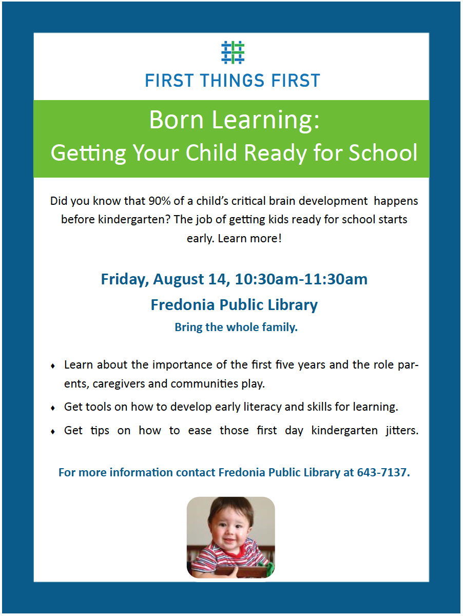 First Things First to present 'Born Learning: Getting Your