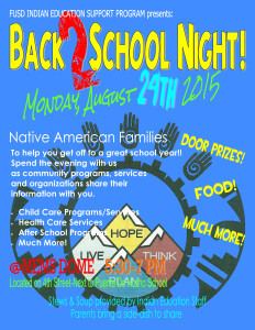Back 2 School Night 8-24-15