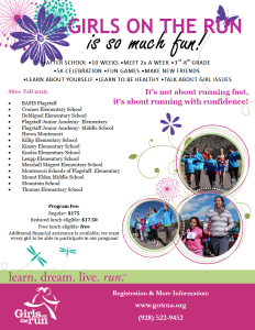 Registration now open for 'GIRLS ON THE RUN'