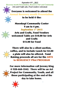 Sept. 1 — Recovery month Presentation, Resource and Community Celebration to be held at Moenkopi Community Center