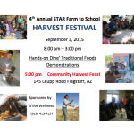 4th annual STAR Farm to School Harvest Festival to be held on Sept. 3