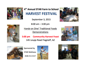 Sept. 3 — 4th annual STAR Farm to School Harvest Festival