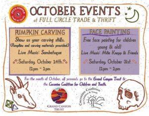 October Events at Full Circle Trade & Thrift