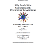 Killip Elementary to present 'Cultural Night: Celebrating the Americas' on Nov. 18