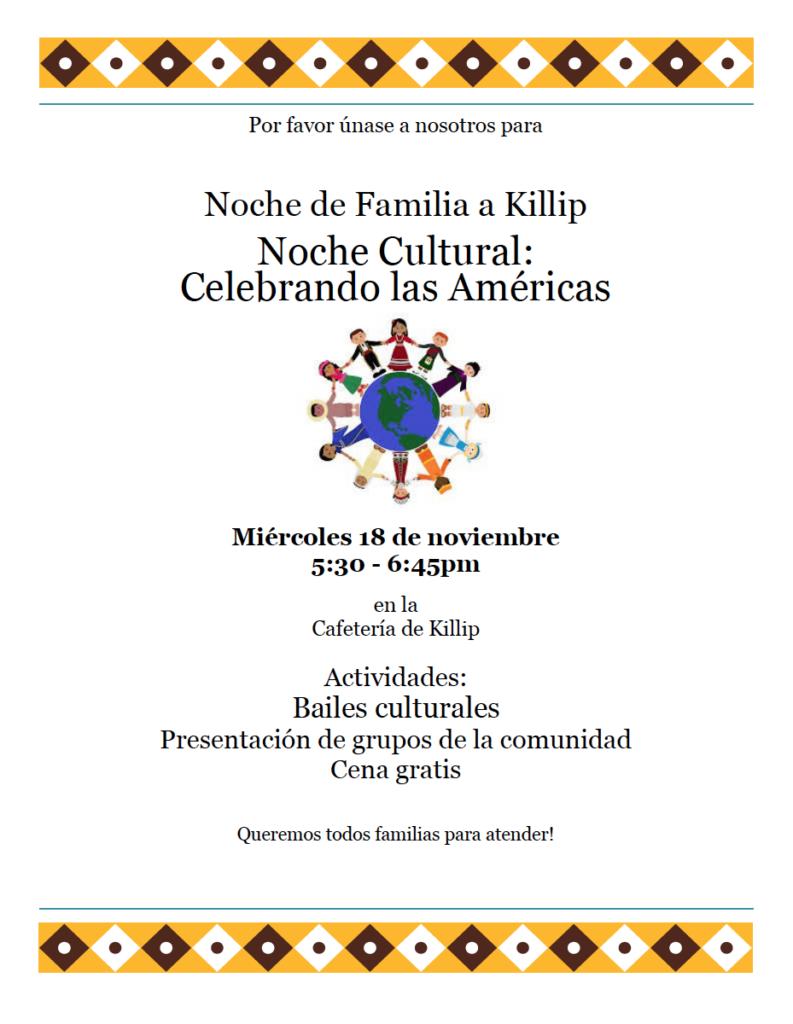 18 de noviembre Nochec Cultural de Killip