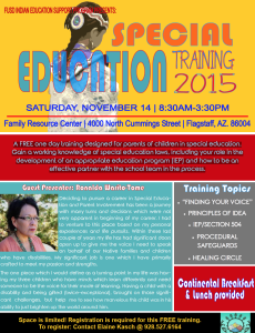 FUSD Indian Education Support Program to present 'Special Education Training 2015'