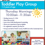 Toddler Play Group Starts January 21, 2016