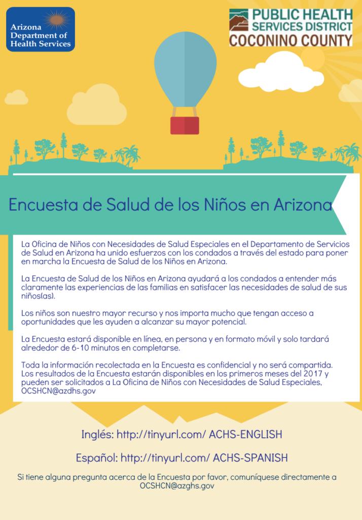Encuesta de la salud de los niños de Arizona