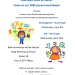 Free parent workshops on April 6, 20, teaches hands-on ways to support your child with math at home