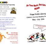 Page Public Library Summer Reading Program – Kickoff May 20th!