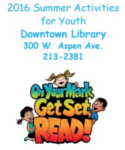 Downtown Summer Activities Handout