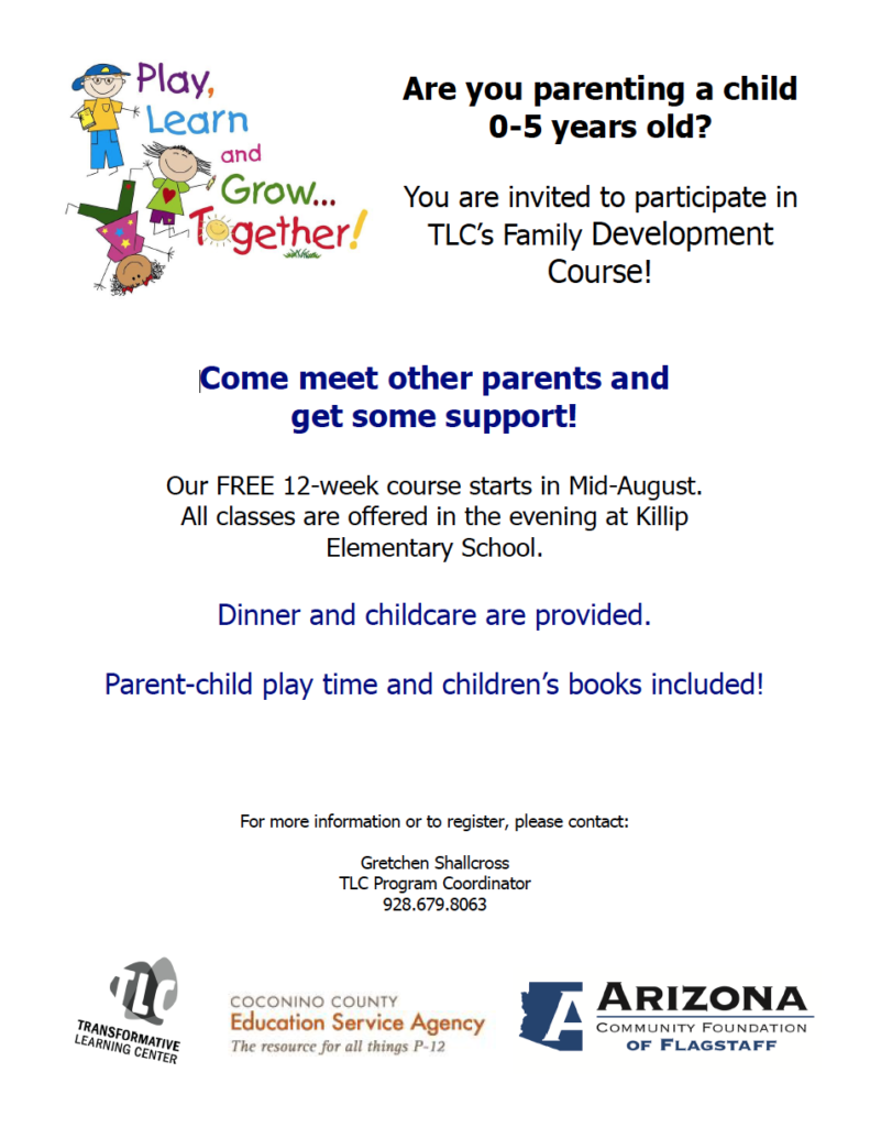 Transformative Learning Center to present free 12-week Family Development Course