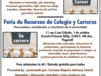 CHAC to present second annual College & Career Resource Fair on Oct. 1 at Killip Elementary