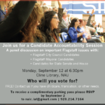 Candidate Accountability Session to be held in Flagstaff on Sept. 12