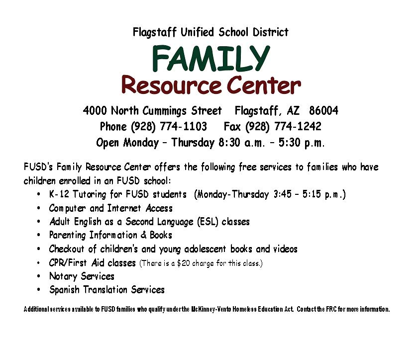 fusds-family-resource-center-offers-the-following-free-services-to-families-who-have-children-enrolled-in-an-fusd-school