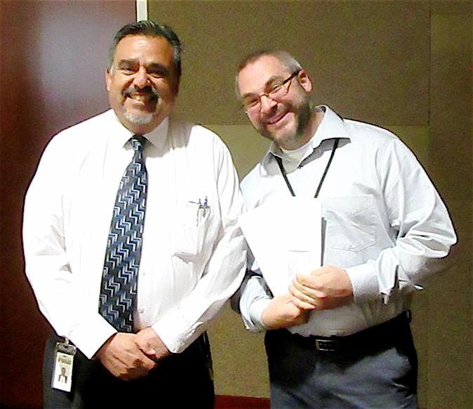 Killip Elementary School Principal Joe Gutierrez and educator Ted Komada attend and receive a financial award from the Arizona Community Foundation of Flagstaff. Photo courtesy of FUSD.