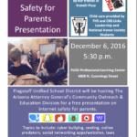 FUSD hosting free Internet Safety for Parents presentation on Dec. 6