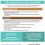 First Things First College Scholarship for Early Childhood Professionals