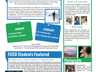 FUSD January 2016 newsletter