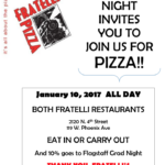 Flagstaff Grad Night to hold fundraiser at Fratelli Pizza on Jan. 10