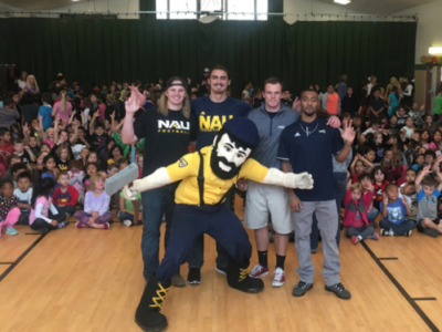 Lumberjack love: NAU student-athletes work with area elementary school children