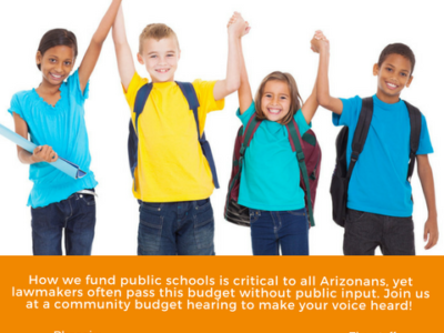 State Budget Town Hall and Budget hearings concerning education, children to be held March 25 and April 2 in Flagstaff
