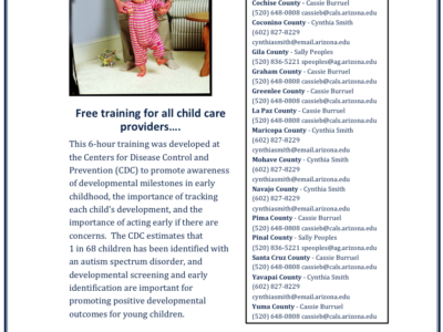 Learn the Signs of Autism and Act Early Free Training to be held March 25 in Flagstaff
