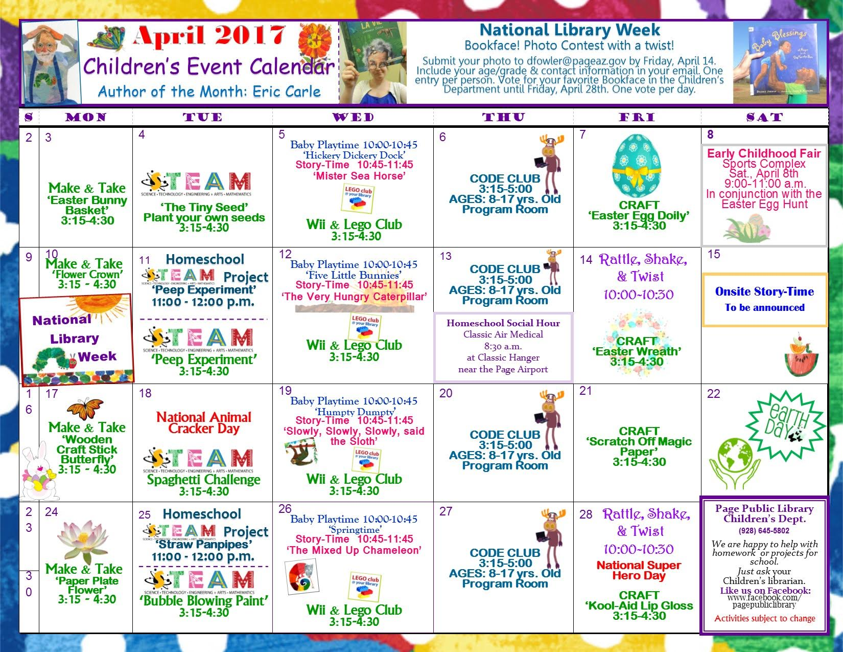Adult Teen And Children S April Calendars Children Youth News