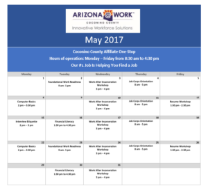 Goodwill Calendar For May 2017 Children Youth News Coconino
