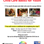 Child Care Basics for Youth class to be held Aug. 26