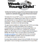 Submit Your Event for The Week of the Young Child (April 16-21)