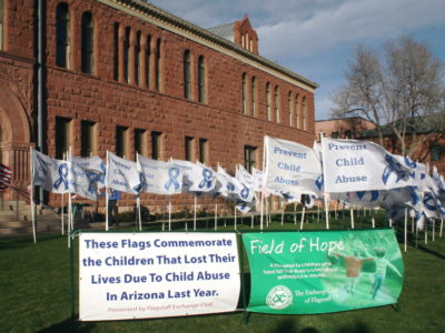 'Field of Hope: Planting the Seed of Awareness' dedication honors memory of 82 children who died statewide last year duechild abuse and neglect