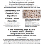 Flagstaff Police Department Citizen's Liaison Committee to hold public meeting on Mental Health Crises on Sept. 26