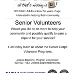 NAU's Senior Corps looking for volunteers to help in the classroom. See related news here