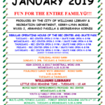 City of Williams Library & Recreation Department January Programs
