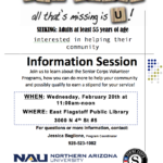Northern Arizona University's Senior Corps to hold information session on Feb. 20