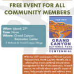 March 11 — 'Stress Management & How it Impacts Your Health' to be presented at the Grand Canyon Recreational Center