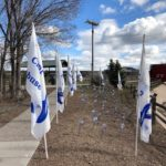 Williams honors 2019 Child Abuse Prevention Month with placement of 79 pinwheels at city's pocket park