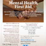 April 15; May 24; June 14 — The Guidance Center to present Mental Health First Aid